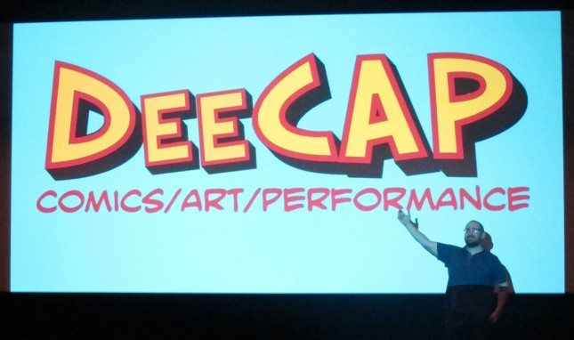 Figure 1 - Damon Herd introduces DeeCAP at Dundee Contemporary Arts 30th March 2013