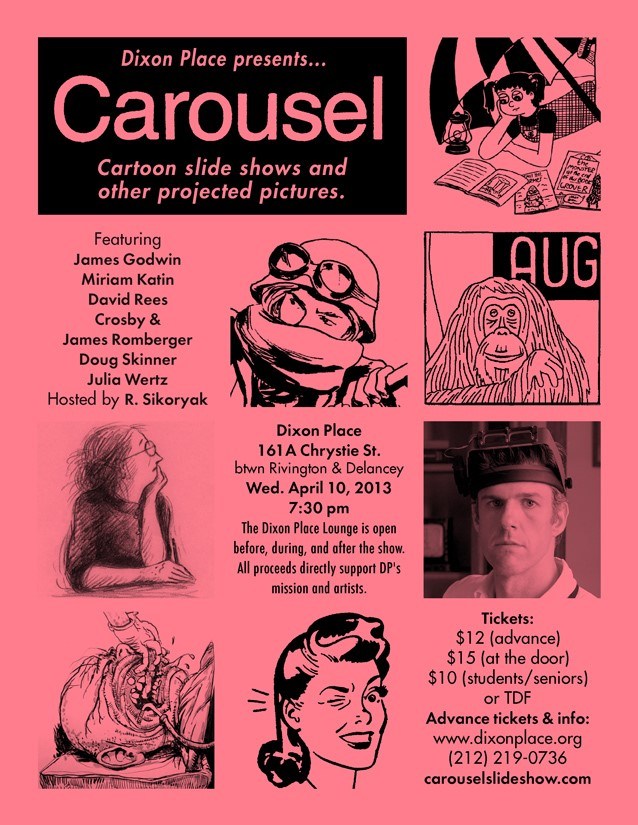 Figure 2 - Flyer advertising a Carousel show on April 10th 2013