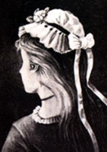 Figure 2. The old woman and the young lady—hint: the old woman's nose is the young lady's chin (image in the public domain; originally printed as a German postcard in 1888, unknown illustrator).