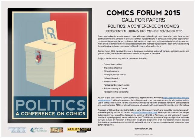 Comics Forum CFP